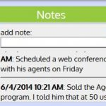 Date and Time Stamped are important to build relationships with clients using BusinessETouch.
